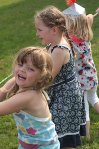 kids party games girl laughing