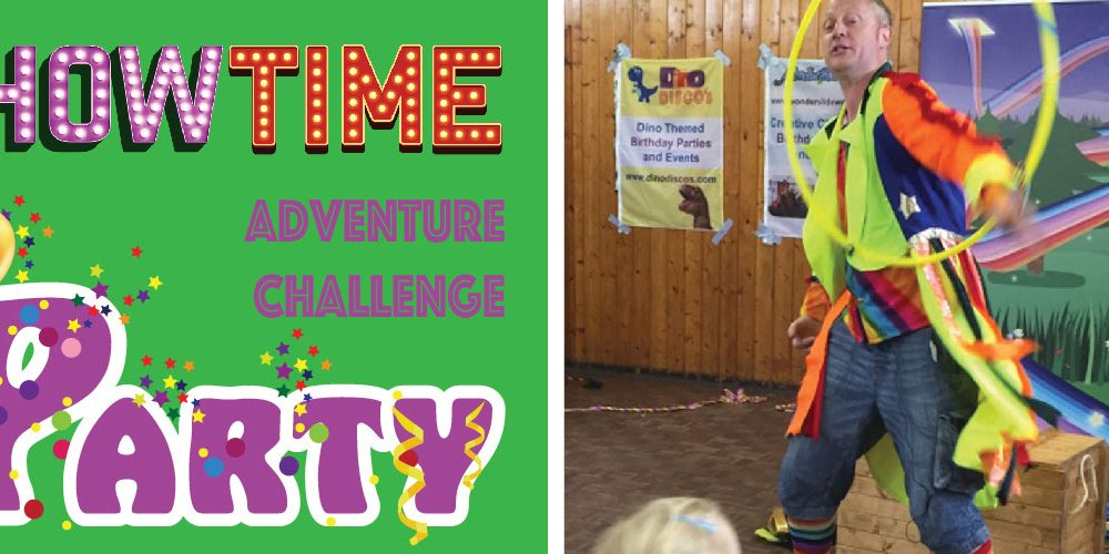 Storytelling and Circus Skills Birthday Party;  Showtime Adventure Challenge