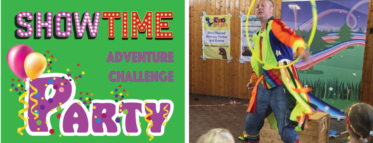 storytelling and circus skills party