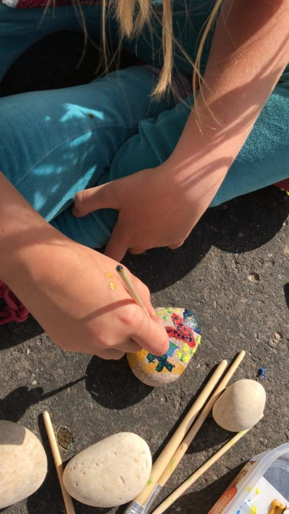 rock painting activity