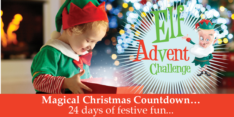 elf advent challenge kids christmas countdown