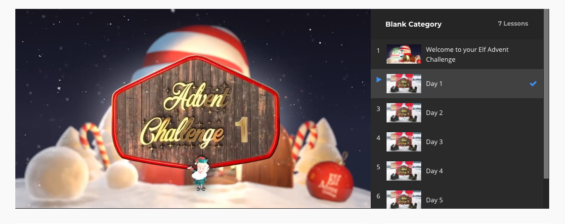 elf advent challenge for kids christmas