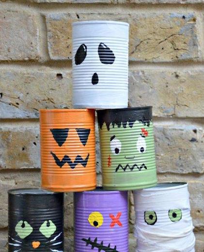 frankinstein cans halloween game