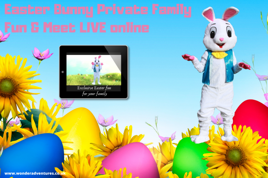 Easter Bunny Private Family Meet and Greet LIVE online