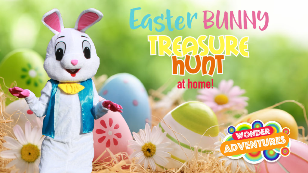 easter bunny egg hunt for kids