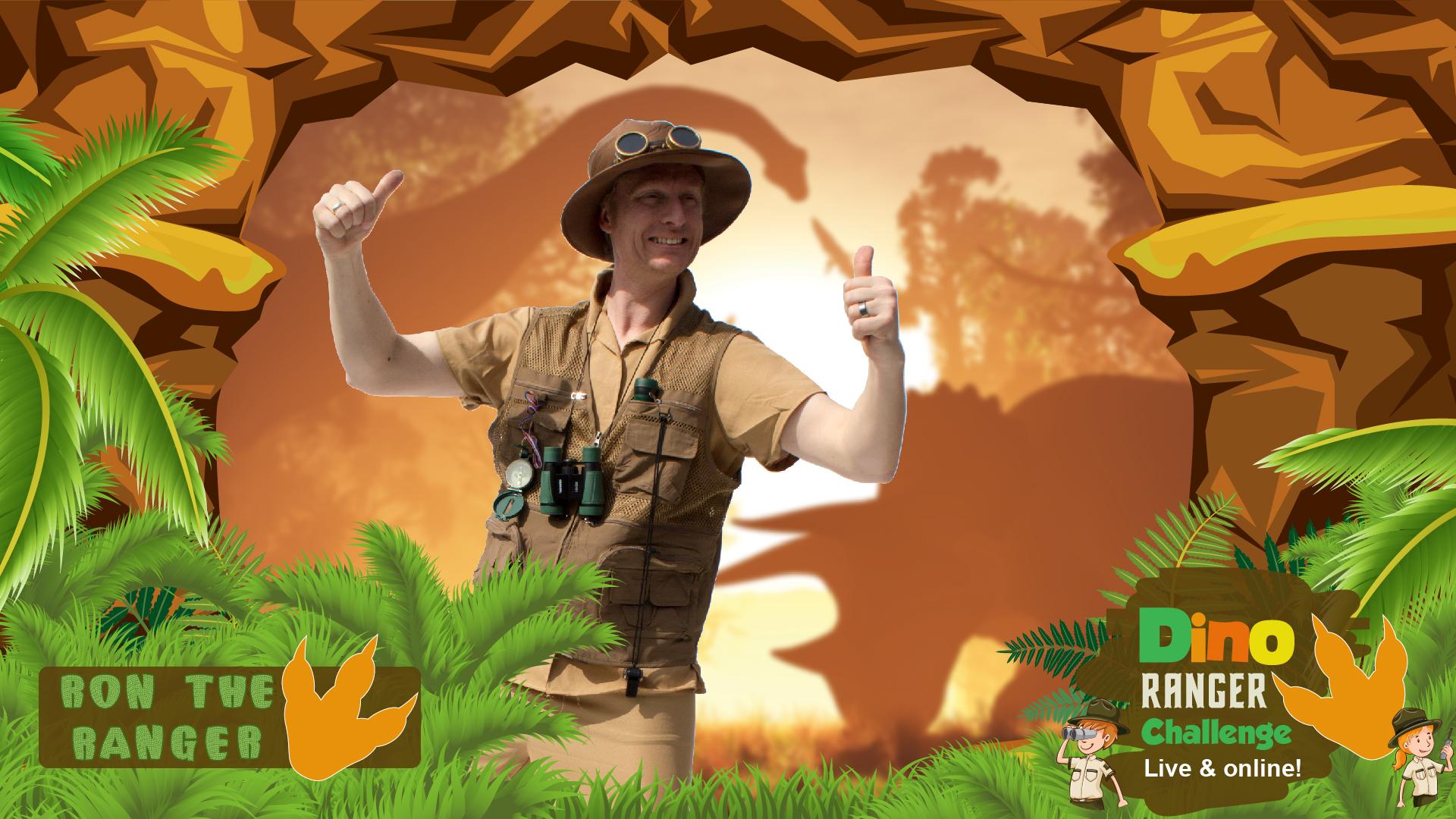 dino ranger challenge live online event for kids