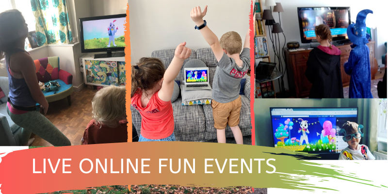 live online fun events for kids