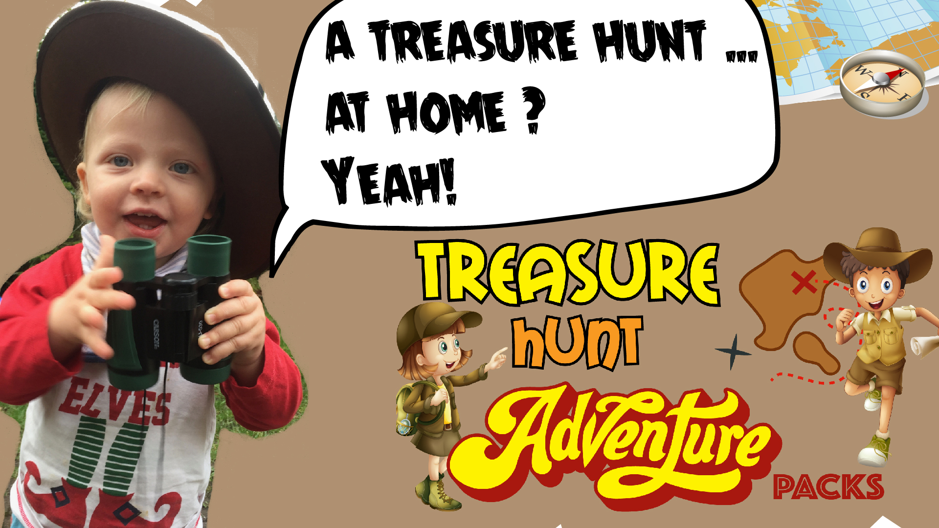 treasure hunt at home activity