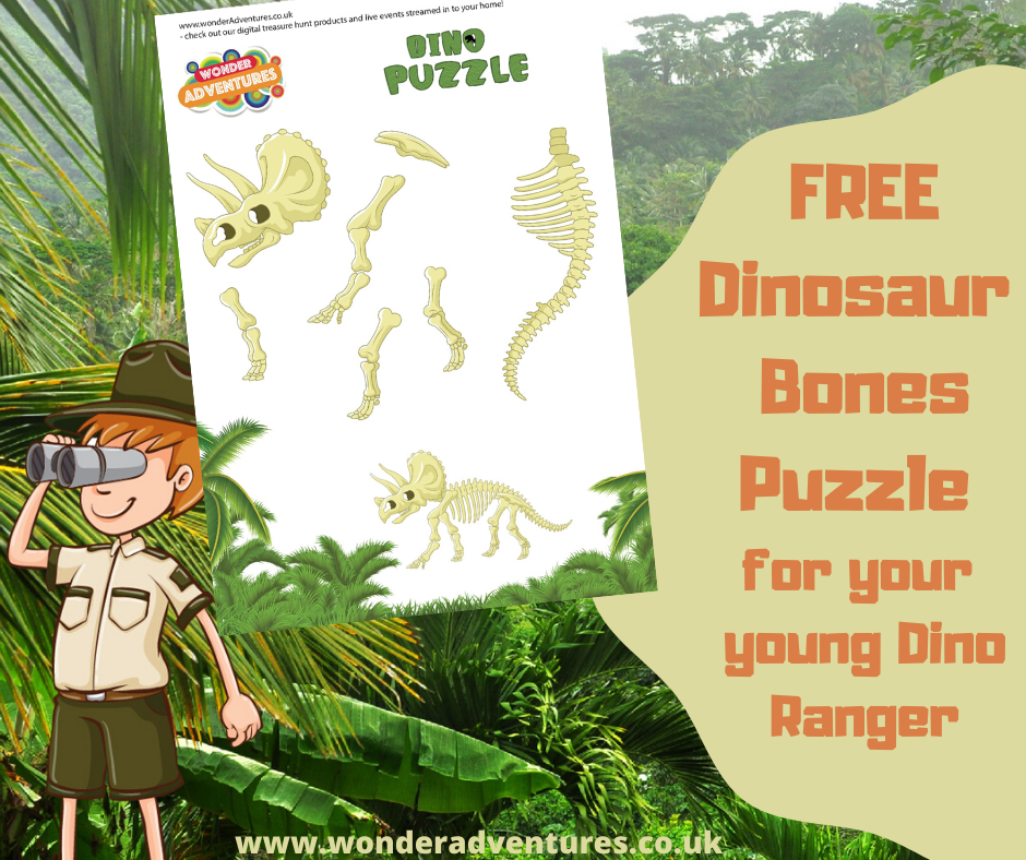 dinosaur bones puzzle for kids