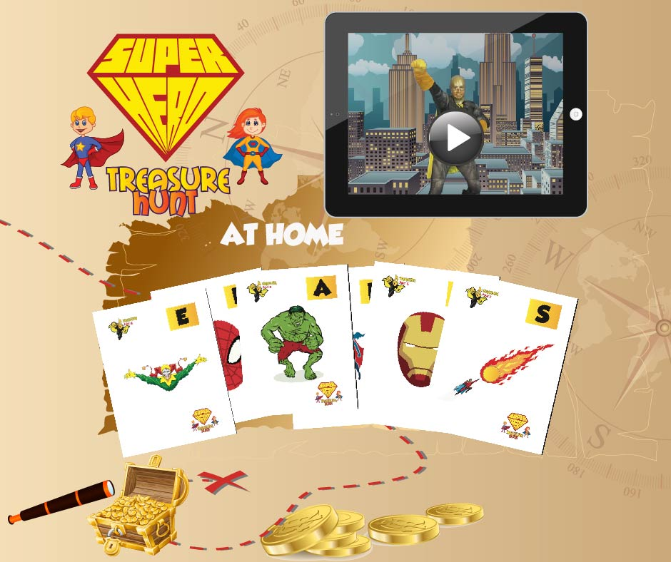 Super hero treasure hunt