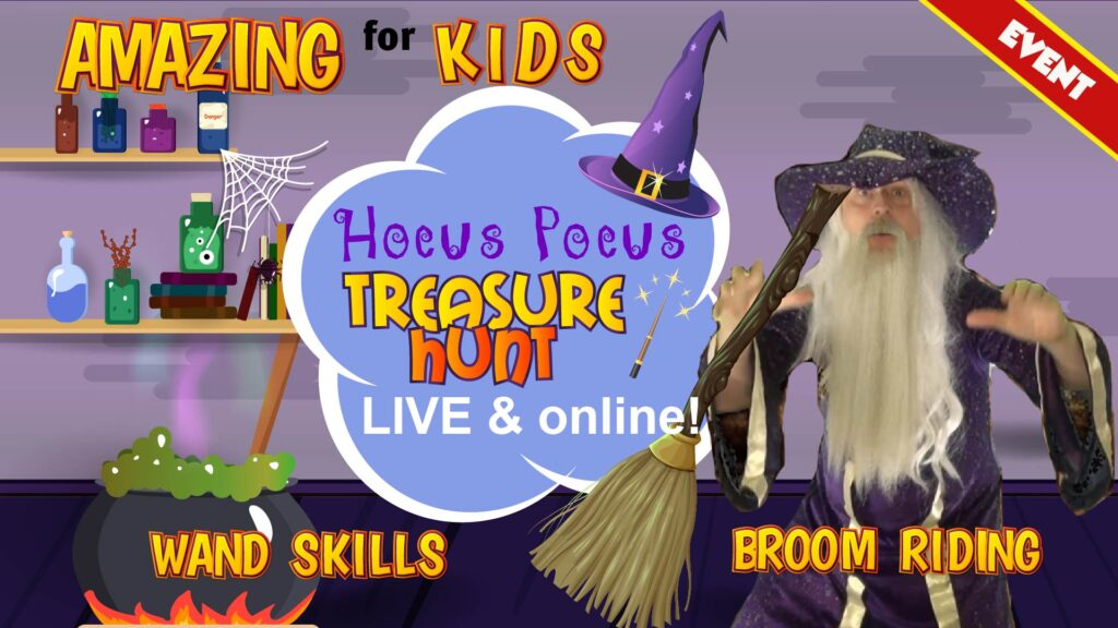 wizard event online for kids
