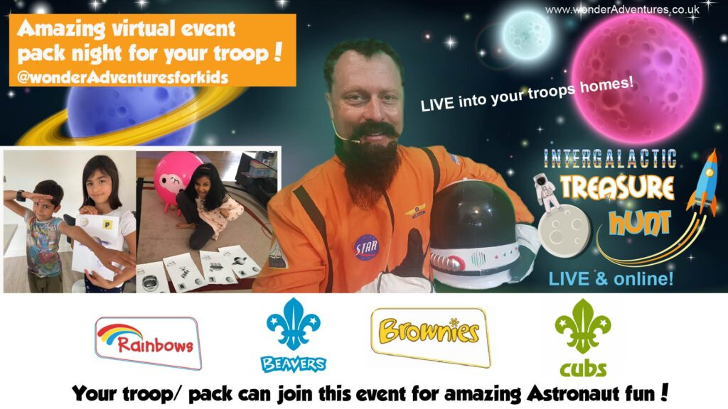 educational space online event for kids