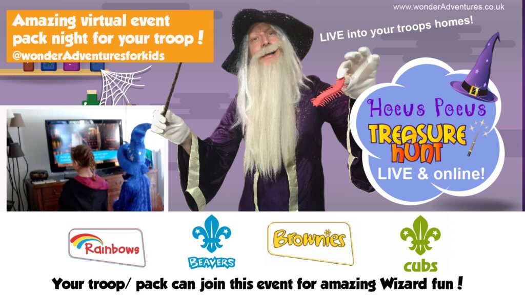 Wizard school for scouting and guiding