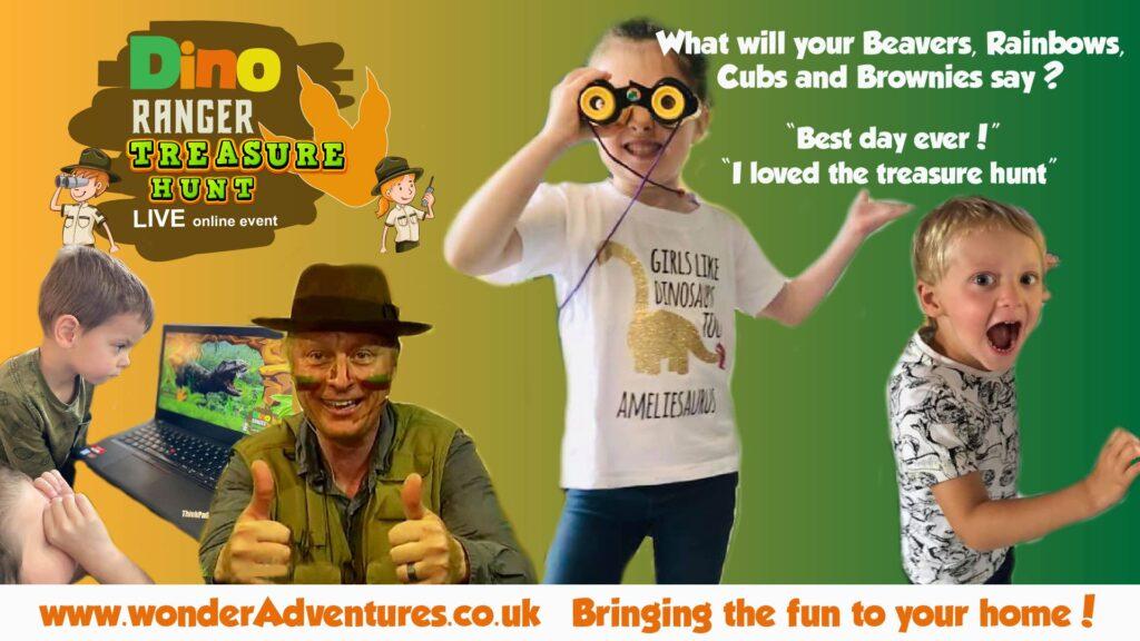 Treasure Hunt Dinosaur Scouts Guides