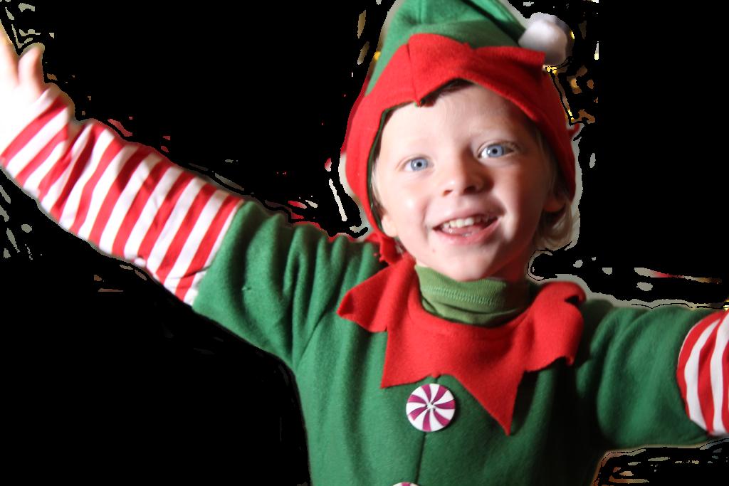 elf child at christmas