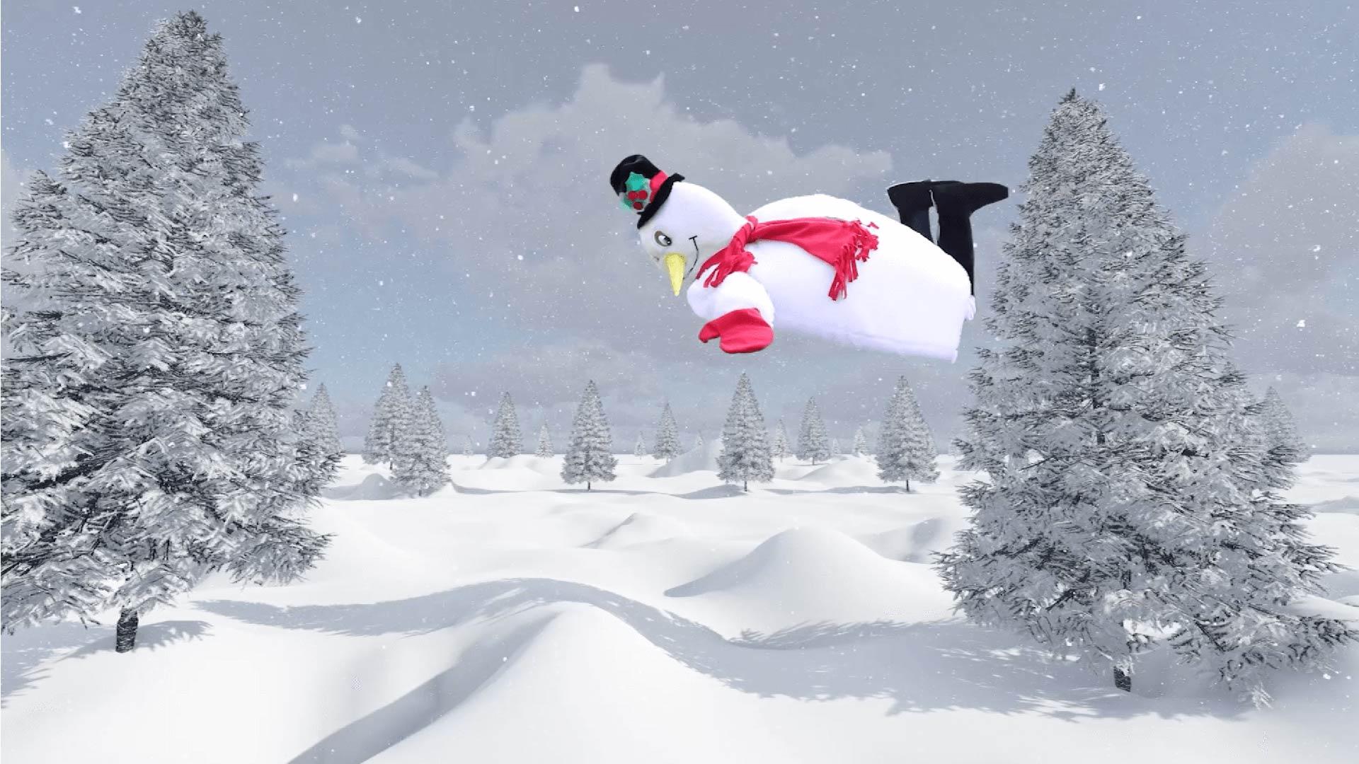 snowman virtual christmas event for kids