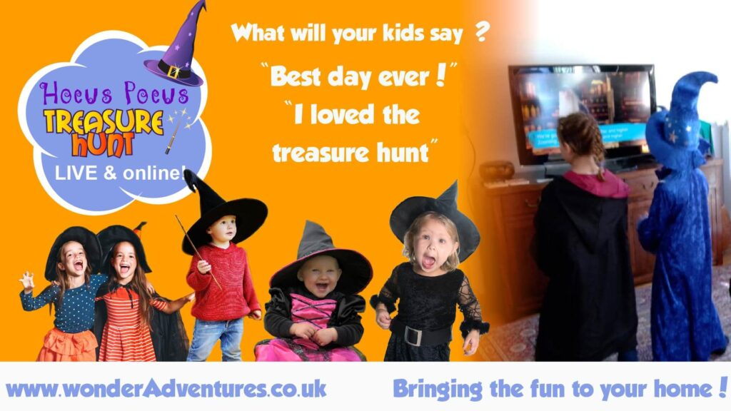 Halloween treasure hunt LIVE