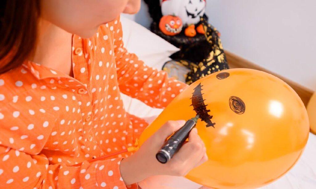 balloon pumpkins